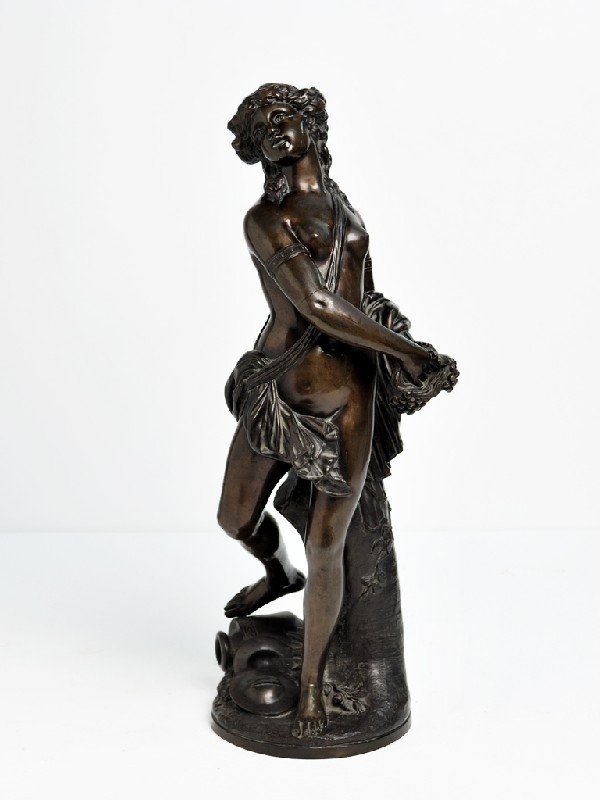 8: Signed CLODION, Maiden Carrying Handful of Grapes, B