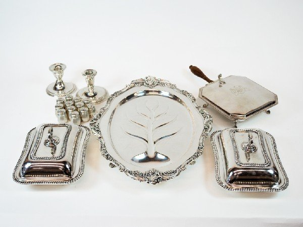 9: Lot of Silverplate and Sterling