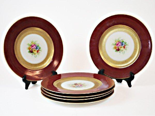 14: Set of Six Place Plates, Marked Royal China, Czecho