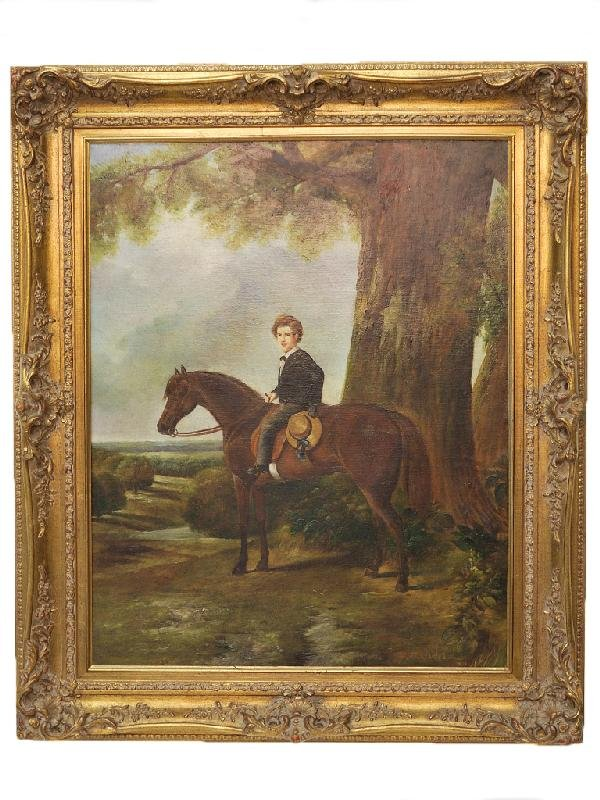 69: Artist Unknown, Untitled, Young Gentleman on Horse,