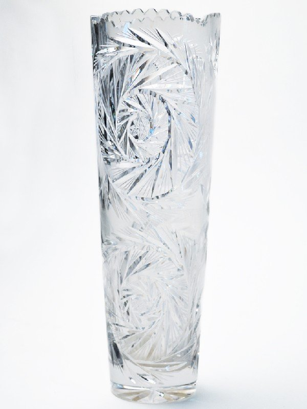 10: A CUT CRYSTAL VASE