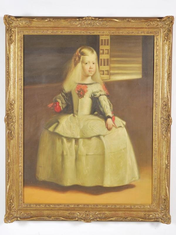 88: DANIEL PABLETE, 1964, Infanta Margarita, oil on can