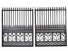 196: A CAST IRON ENTRANCE GATE