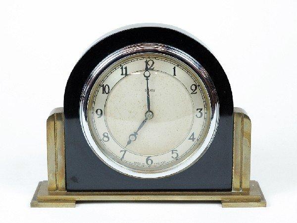1: AN ENGLISH ART DECO BAKELITE DESK CLOCK