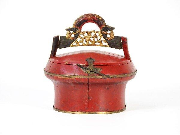 10: A CHINESE WOODEN LUNCH BOX Twentieth Century