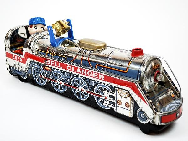 """14B: A SILVER MOUNTAIN """"BELL CLANGER"""" 3850 TOY TRAIN"""