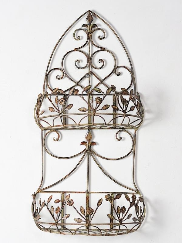 7: A TWO TIER METAL WALL BASKET