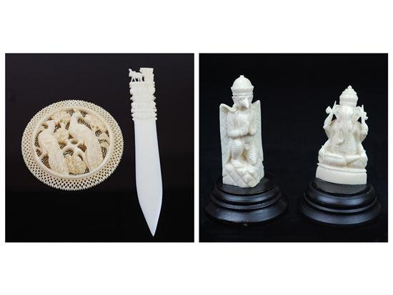 16A: A COLLECTION OF INDIAN IVORY