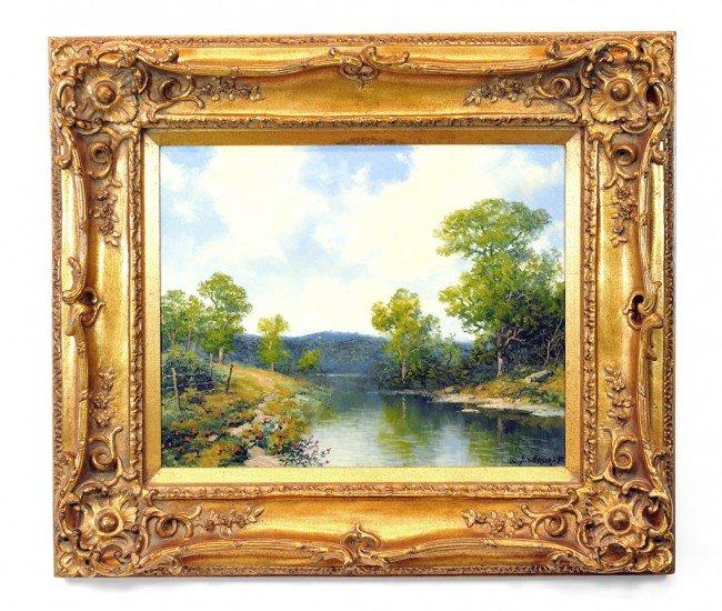 1: A.D. GREER, (American, 1904-1998), Spring Landscape,