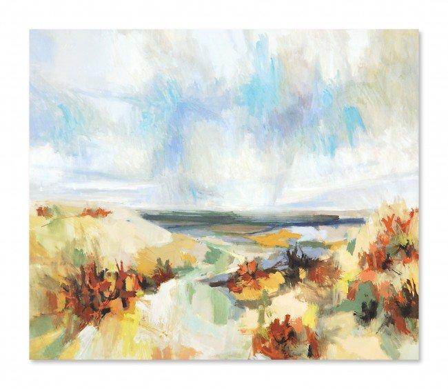 14: WEYRICH, (Twentieth Century), Sea Dunes, Pastel on