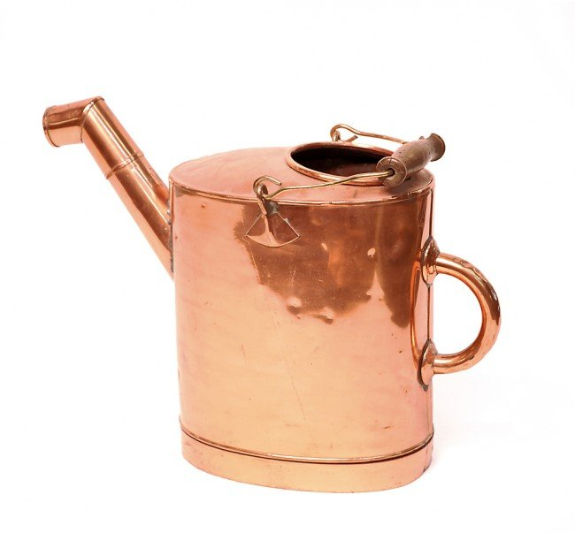 23: A FRENCH COPPER WATERING CAN (ARROSOIR), France, Ni