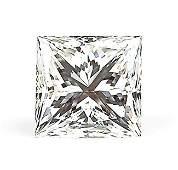 86: AN UNMOUNTED 5.03 CARAT PRINCESS-CUT DIAMOND
