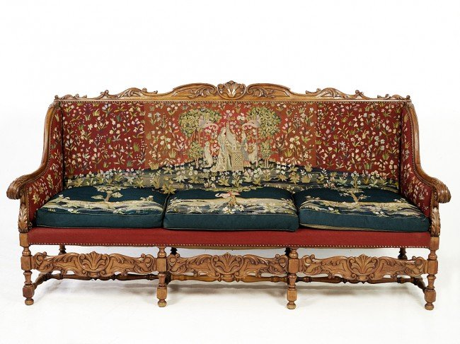 144A: A LOUIS XIII SETTEE France, Nineteenth Century