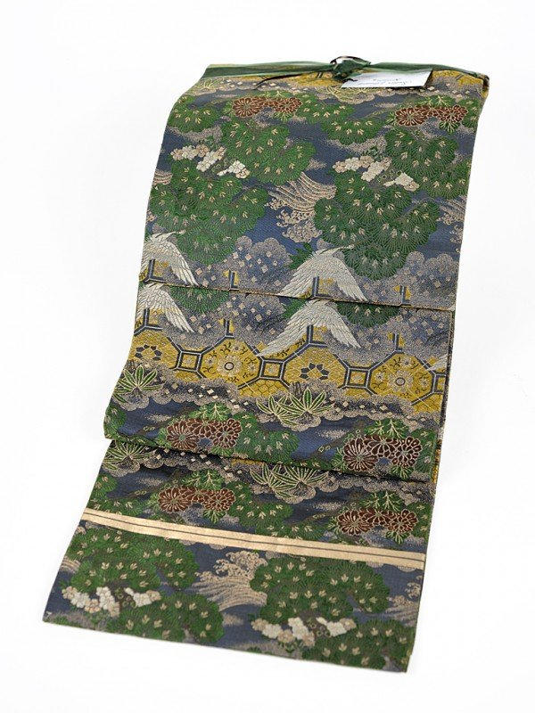 5: A JAPANESE SILK BROCADE OBI