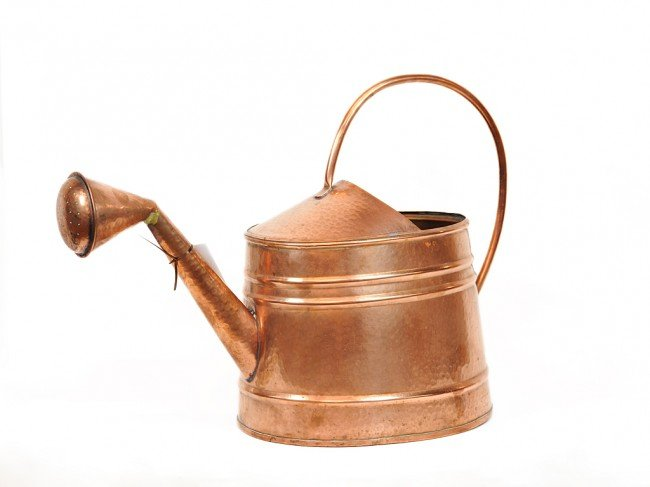 22: A COPPER WATERING CAN