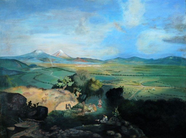 3: TOMAS BLACK, Valley of Mexico, Circa 1910, Oil on ca