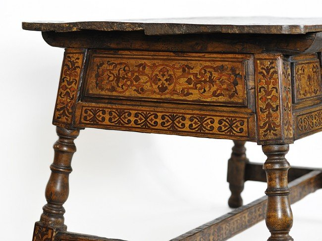 14: A MARQUETRY WORK TABLE Oaxaca, Mexico, Eighteenth C - 3