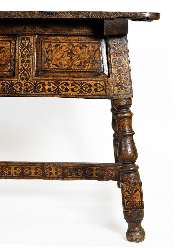 14: A MARQUETRY WORK TABLE Oaxaca, Mexico, Eighteenth C - 5