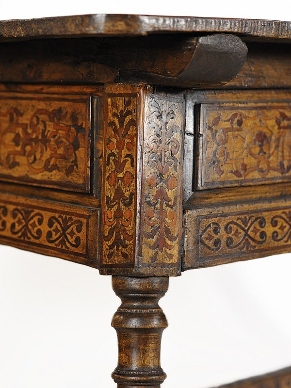 14: A MARQUETRY WORK TABLE Oaxaca, Mexico, Eighteenth C - 6