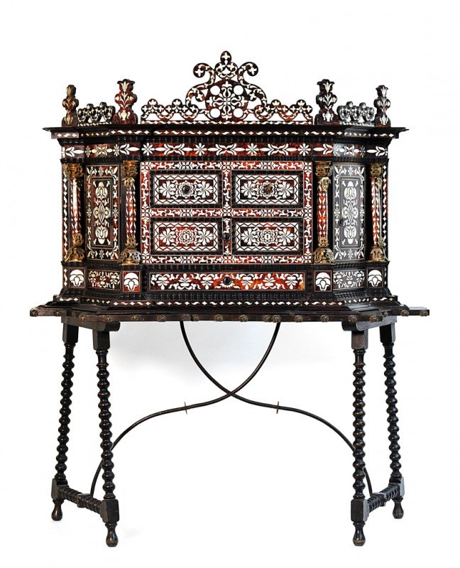 52: AN INLAID CABINET-ON-STAND, Mexico, Eighteenth Cent