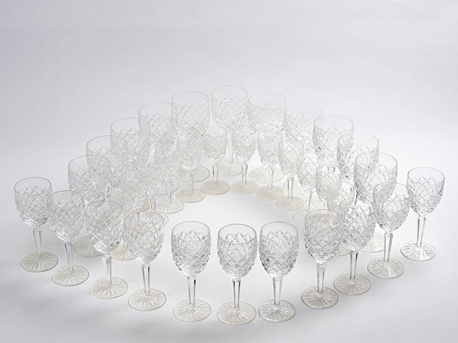 7: A COLLECTION OF WATERFORD CRYSTAL STEMS