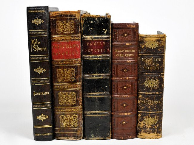 23: A LOT OF FIVE CHRISTIAN NINETEENTH CENTURY BOOKS