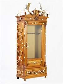132: A UNIQUE CUSTOM MADE BELGIAN WALNUT SINGLE DOOR GU