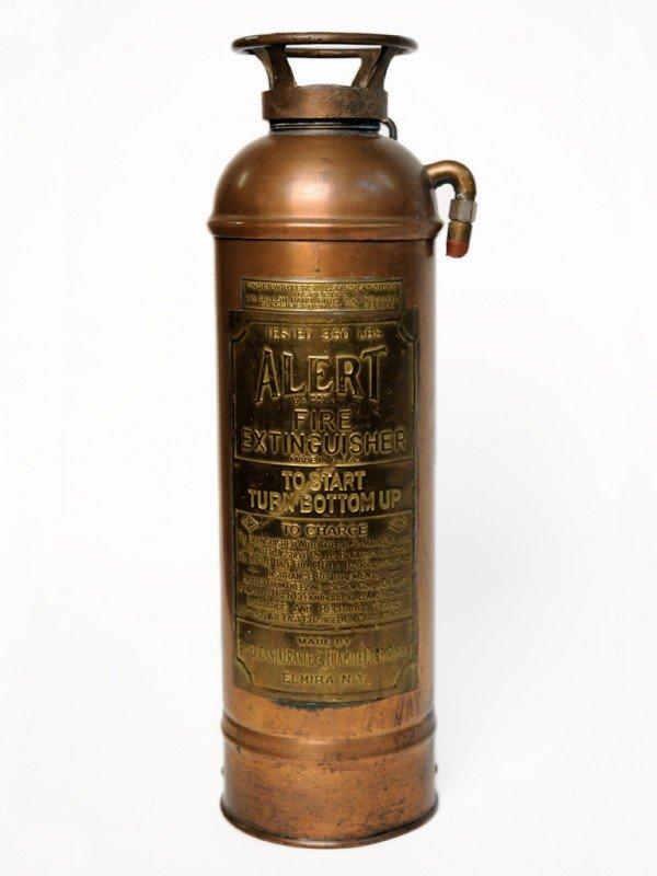 11A: AN ANTIQUE COPPER FIRE EXTINGUISHER