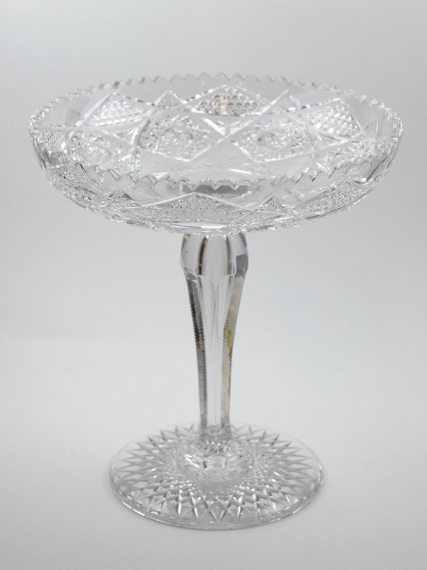 1: A CUT CRYSTAL COMPOTE