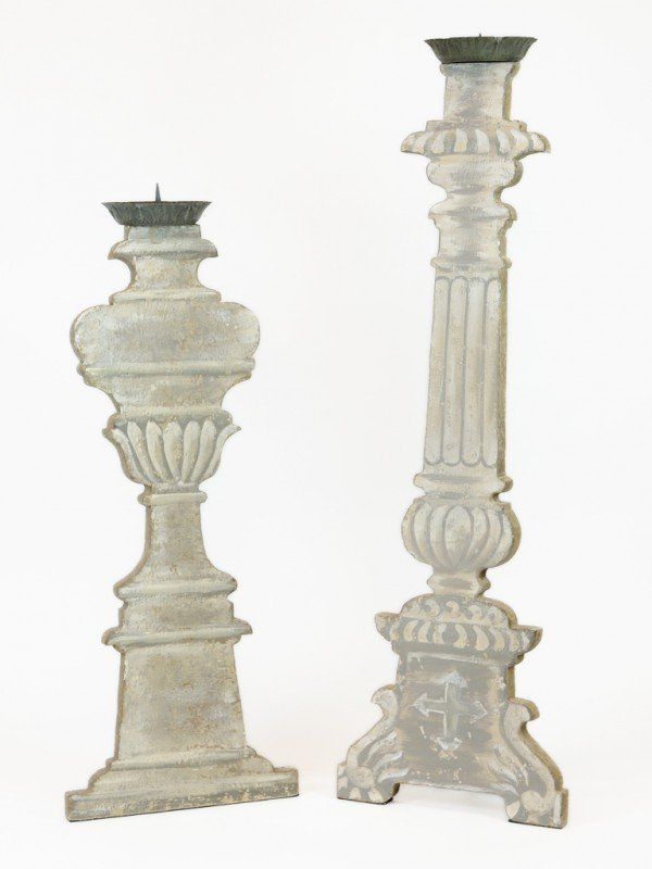 2: A PAIR OF AIDAN GRAY DECORATIVE CANDLESTICKS