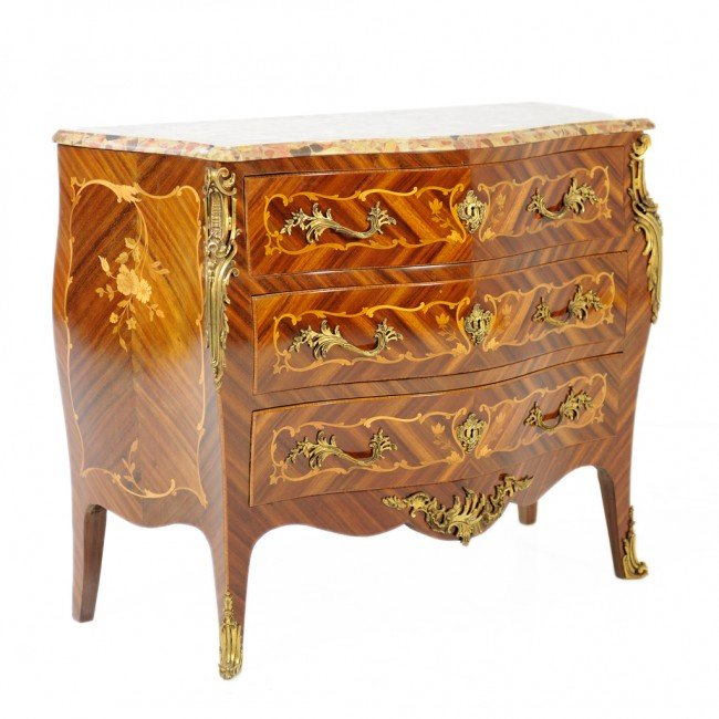 87: A LOUIS XV MARQUETRY CHEST