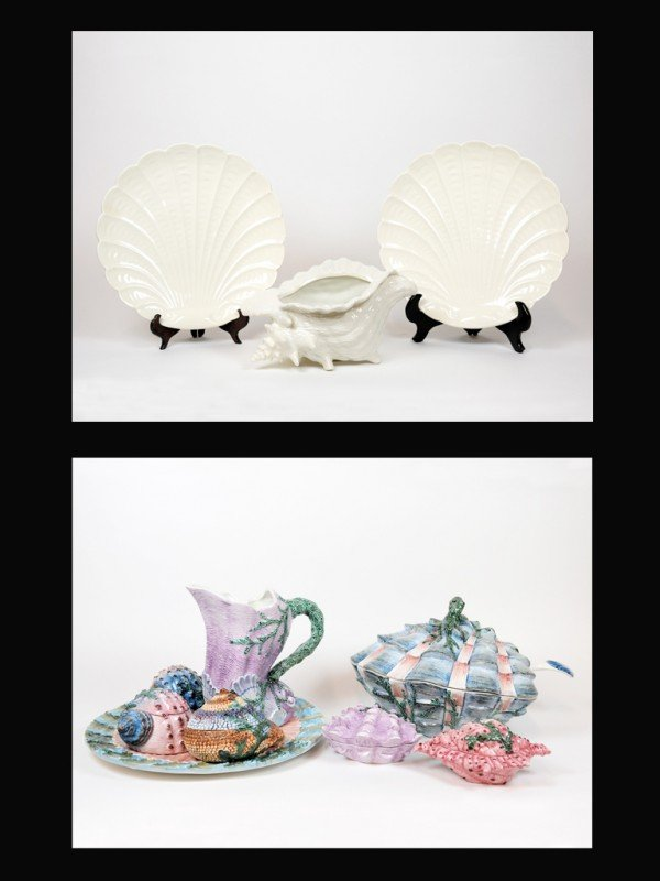 5: A COLLECTION OF EIGHT PORCELAIN NEIMAN MARCUS SHELL