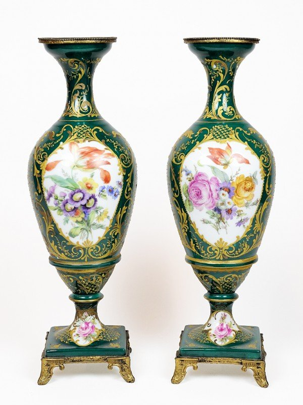 20: A PAIR OF GIRAUD LIMOGES VASES