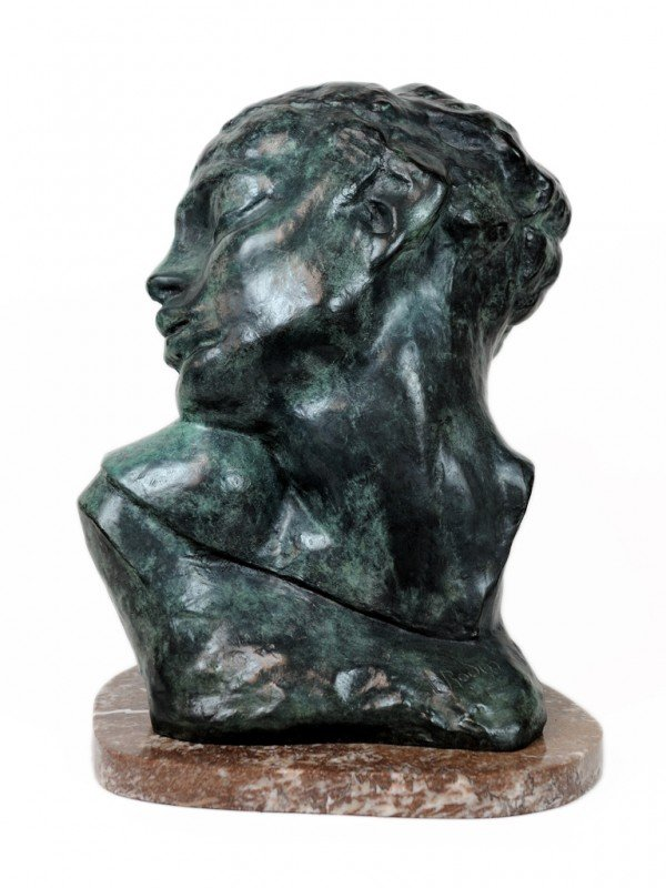 21: AUGUSTE RODIN, (French, 1840-1917), Untitled (Bust)