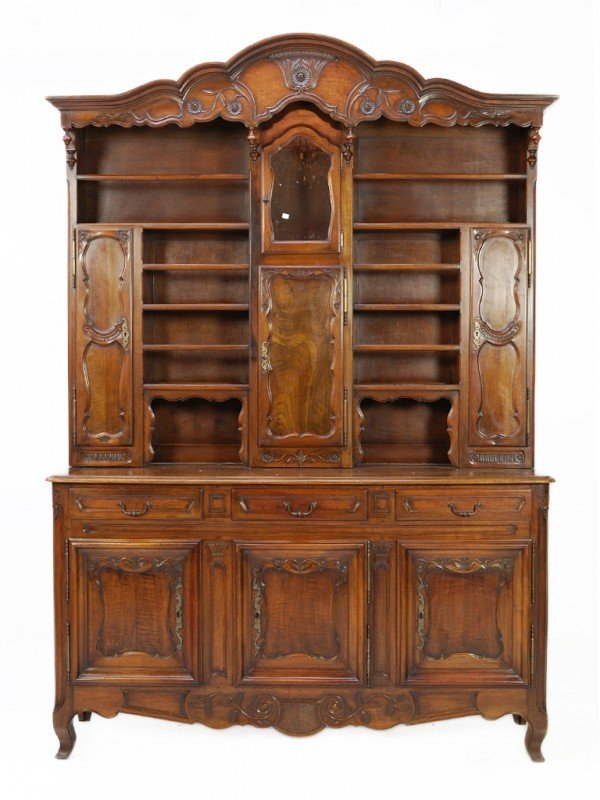 218: A LOUIS XV WALNUT BUFFET France, Nineteenth Centur