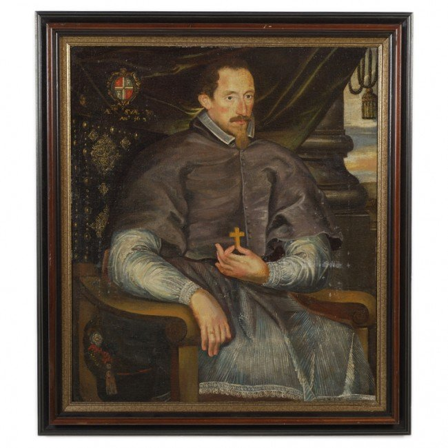 11: SPANISH COLONIAL SCHOOL , Untitled (Seated Nobleman