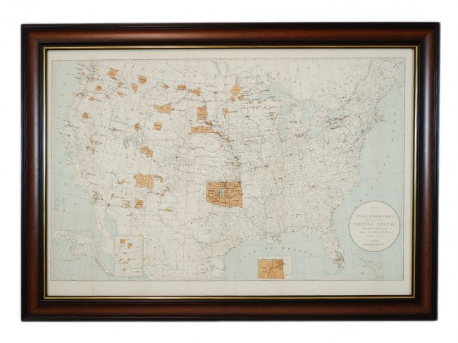 17: Native American Nations Map, lithograph, 24 x 35 in