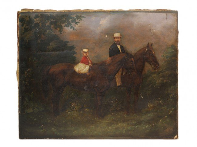 20: W. HUNT, (Nineteenth Century), Father and Child on