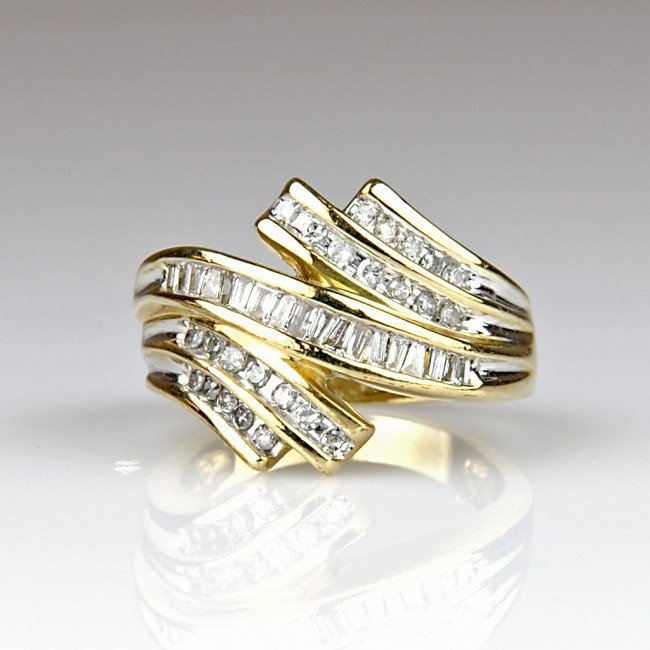 2: LADIES CHANNEL SET DIAMOND BYPASS STYLE RING