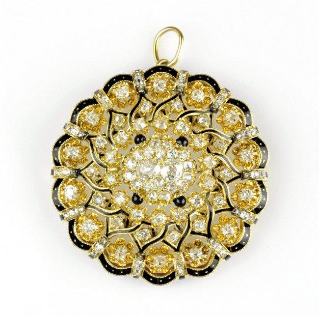 11: AN EXTRAORDINARY 14K DIAMOND PENDANT