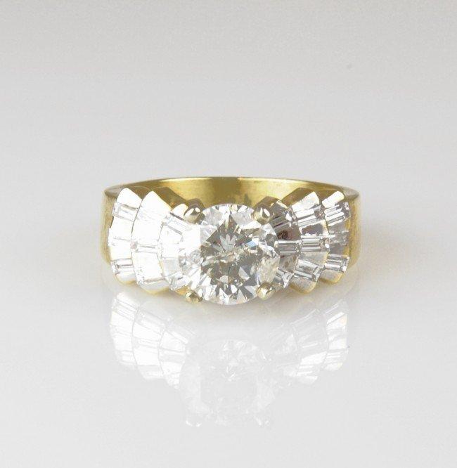 17: LADIES 18K DIAMOND WEDDING SET - Finger size 8 ¼