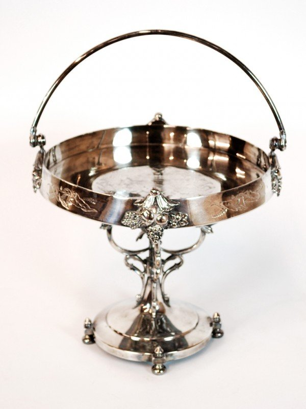 6: A SIMPSON HALL MILLER & CO. TRIPLE SILVER PLATE COMP