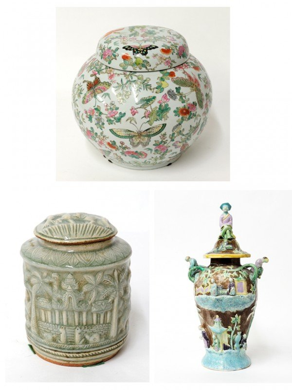 14: A TRIO OF MISCELLANEOUS CHINESE CERAMIC PIECES