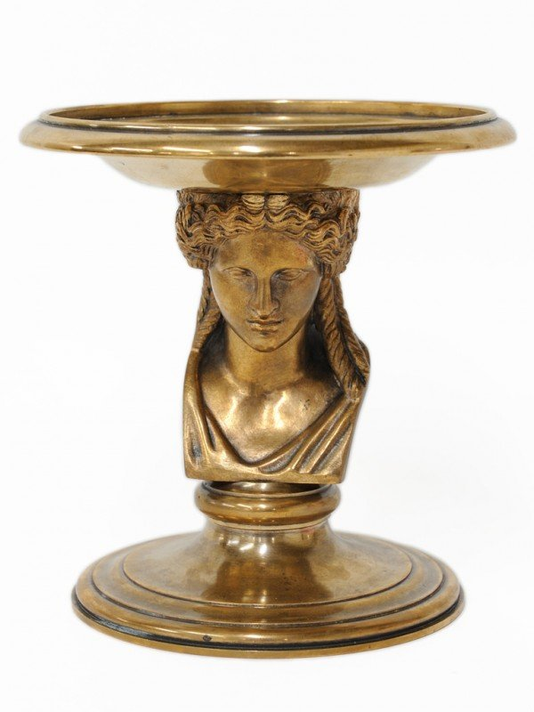 10: A FRENCH BRONZE COMPOTE Signed Barbedienne Fonduer,
