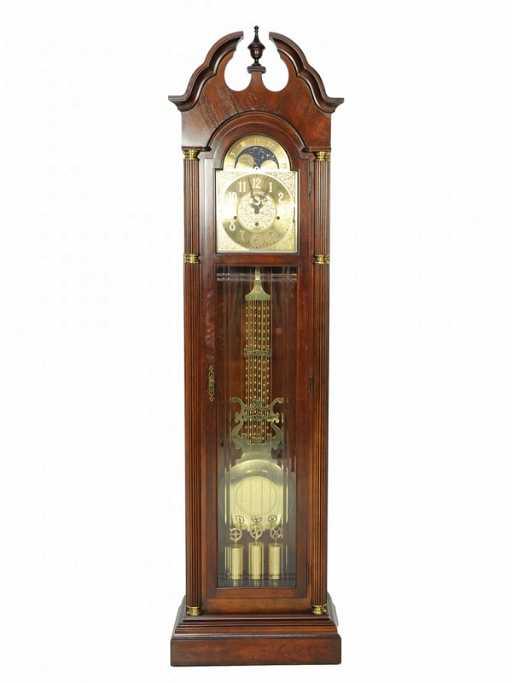 247 A Sligh Mahogany Grandfather Clock Holland Mi