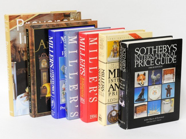 1A: A COLLECTION OF SEVEN ANTIQUES REFERENCE BOOKS