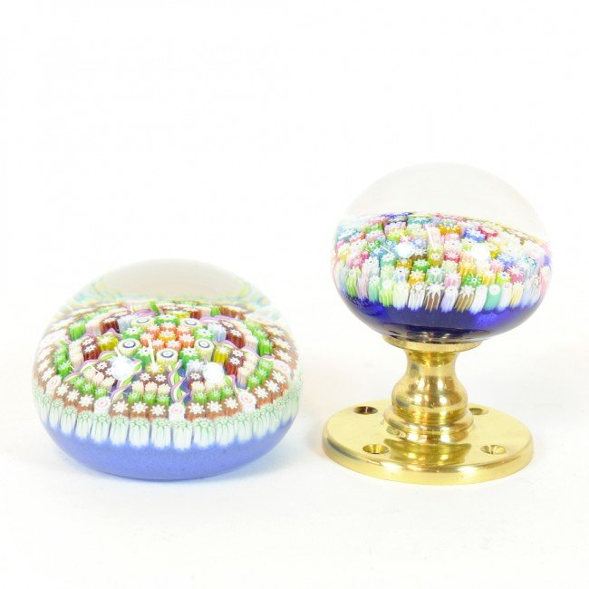 7: A LOT OF TWO SCOTTISH MILLEFIORI GLASS PAPERWEIGHTS,