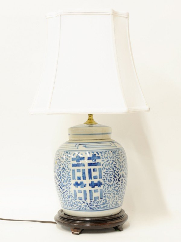 22: A CHINESE BLUE AND WHITE PORCELAIN WATERMELON JAR T