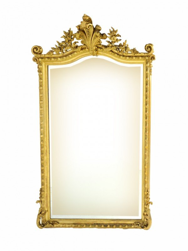 351: A GILDED BEVELED MIRROR Nineteenth Century