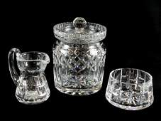 28 A SET OF THREE WATERFORD CUT CRYSTAL PIECES